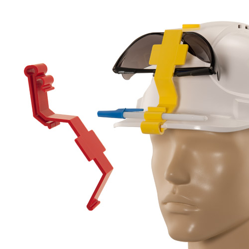 hard hat goggle guard